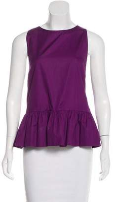 Giambattista Valli Sleeveless Peplum Top