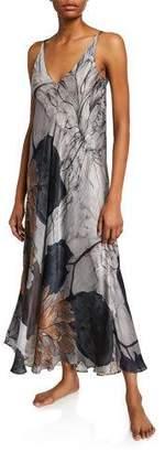Christine Lingerie Fresco Floral-Print Nightgown
