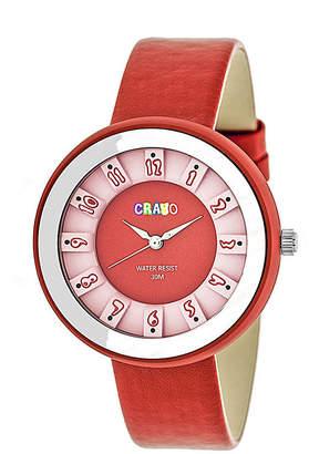 Crayo Unisex Red Strap Watch-Cracr3408