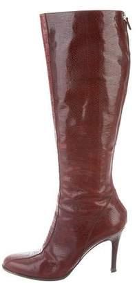 Alberta Ferretti Karung Pointed-Toe Boots