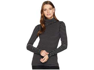 Three Dots Autumn Stripe The Diane Long Sleeve Turtleneck