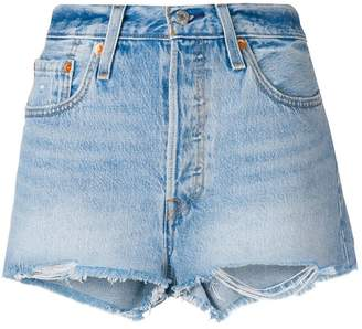 Levi's 501 customised high rise shorts
