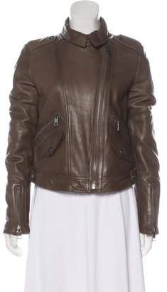 Burberry Leather Moto Jacket