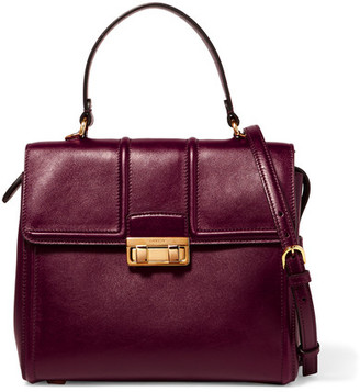 Lanvin - Jiji Small Leather Tote - Burgundy $1,995 thestylecure.com