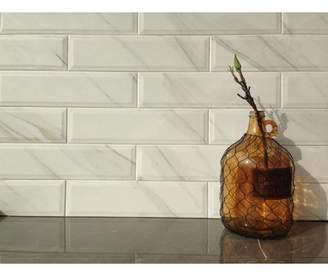 MSI Classique Calacatta 4 x 16 Ceramic Tile in White