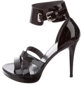Stuart Weitzman PatentLeather Platform Sandals