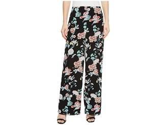 Vince Camuto Floral Gardens Wide Leg Pants Women's Casual Pants