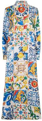 Dolce & Gabbana Majolica Shirt Dress