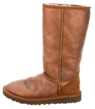UGG Australia Classic Tall Metallic Boots $95 thestylecure.com