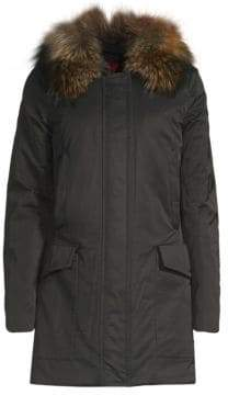 Post Card Barwa Fur-Trim Parka Jacket