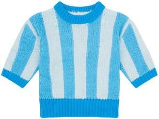 Burberry Stripe Short Sleeve Sweater