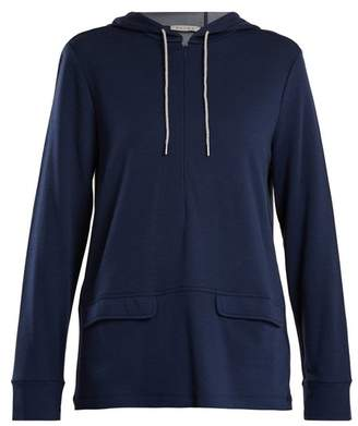 Falke Half Zip Jersey Hooded Sweatshirt - Womens - Navy