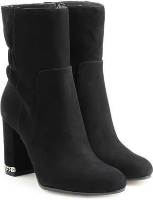 MICHAEL Michael Kors Suede Boots with Chainlink Heel