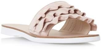at Debenhams Dune Light Pink 'Laria' Ruffle Mule Sandals