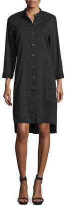 Eileen Fisher 3/4-Sleeve Linen-Blend High-Low Dress $318 thestylecure.com