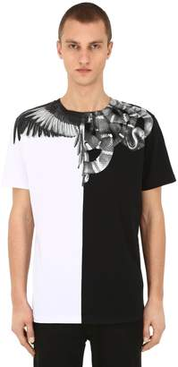 Marcelo Burlon County of Milan Print Snakes Wings Cotton Jersey T-Shirt