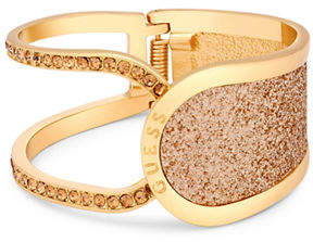 GUESS Gold Glitter and Crystal Hinge Bracelet