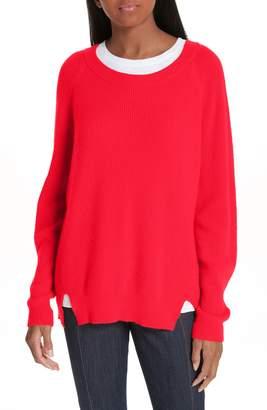 Cinq à Sept Lillie Layered Cashmere Sweater
