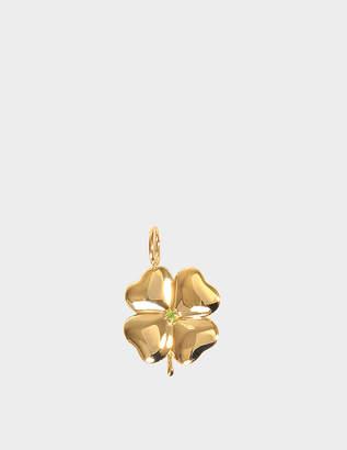 Aurelie Bidermann Fine Jewellery - 18K Gold Clover Pendant With Tasvorite Stone