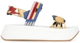 Marni multicoloured platform sandals