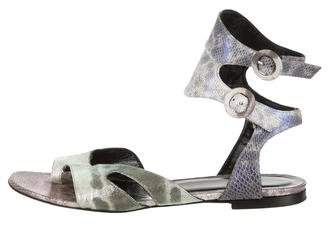 Pierre Hardy Embossed Leather Sandals