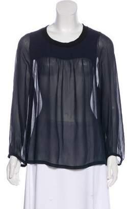 Etoile Isabel Marant Semi-Sheer Silk Blouse