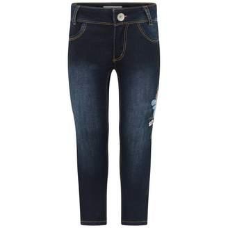 Catimini CatiminiGirls Blue Embroidered Denim Stretch Jeans