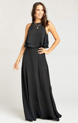 Show Me Your Mumu Princess Di Stretch Ballgown Maxi Skirt ~ Black Crisp