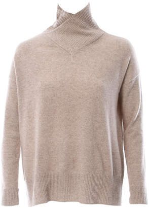 Minnie Rose Slouch Cross Over Turtleneck Sweater