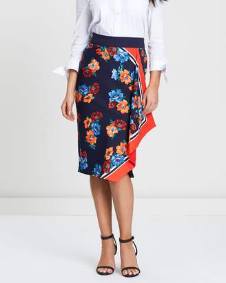 Oasis Scarf Print Pencil Skirt