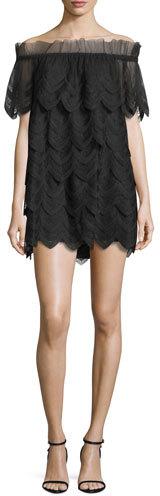 AlexisAlexis Ali Off-the-Shoulder Lace Dress, Black