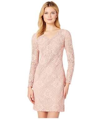 Lauren Ralph Lauren 155H Aura Floral Lace Lontie Long Sleeve Day Dress