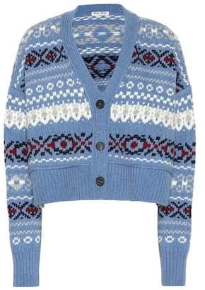 Miu Miu Fair Isle wool cardigan