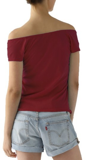 Women's Lamade Imelda Tissue Jersey Off The Shoulder Tee 3