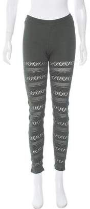 Trussardi Patterned Knit Leggings w/ Tags