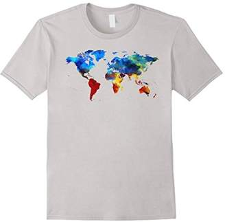 Colorful LGBTQ Pride World Map Atlas T-Shirt