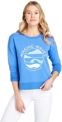 Vineyard Vines Long-Sleeve Garment Dyed Making Waves Sweatshirt