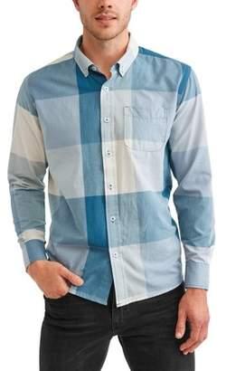 Cherokee Men's Plaid Long Sleeve Button Down Woven Shirt