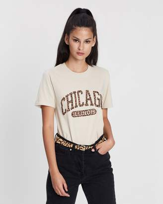 Missguided Chicago Leopard Graphic T-Shirt
