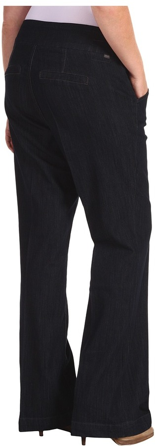 Jag Jeans Plus Size Attie Pull-On Denim Trouser in Paramount Blue (Paramount Blue) - Apparel