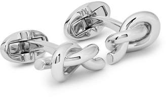 Mulberry Engraved Knotted Silver-Plated Cufflinks
