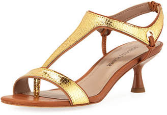 Donald J Pliner Caro T-Strap Viper Snake-Embossed Sandals