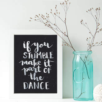 More Than Words Inspirational Part Of The Dance Print