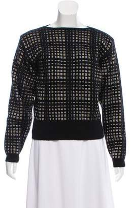 Christian Dior Wool-Blend Metallic Sweater