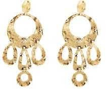 Goossens Paris Women's Pounded Multi-Circle Drop Earrings - Gold