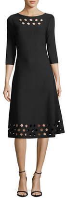 Nic+Zoe Time Out Twirl 3/4-Sleeve Cutout Dress, Petite