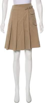 Gunex Pleated Wrap Skirt