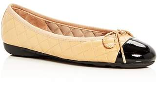 Paul Mayer Women's Best Brighton Quilted Cap-Toe Ballet Flats