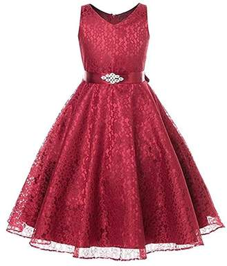 AllSaints ADHS Kids Baby Girl Party Cocktail Communion Actress Bridesmaid Dresses(,4-5Y)