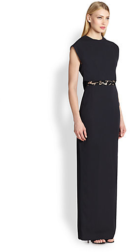 ADAM by Adam Lippes Peek-a-Boo Lace-Detail Gown